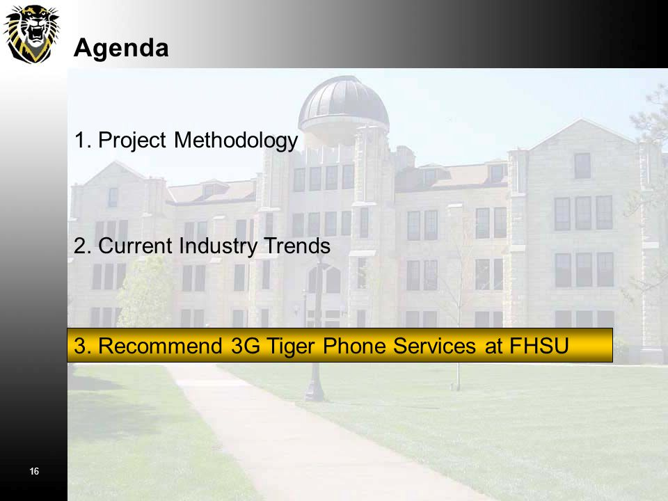Agenda 1. Project Methodology 2. Current Industry Trends 3.