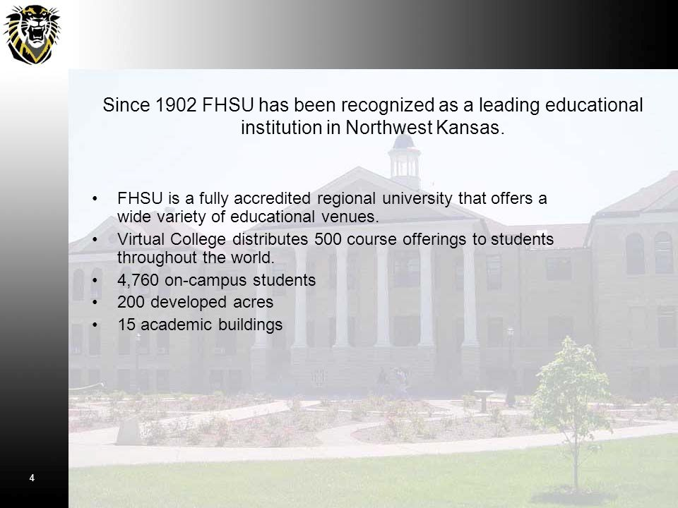 FHSU is a fully accredited regional university that offers a wide variety of educational venues. Virtual College distributes 500 course offerings to s