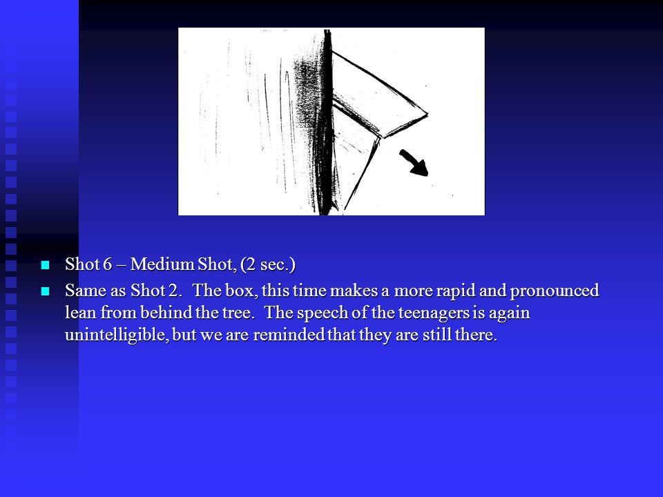 Shot 6 – Medium Shot, (2 sec.) Same as Shot 2.