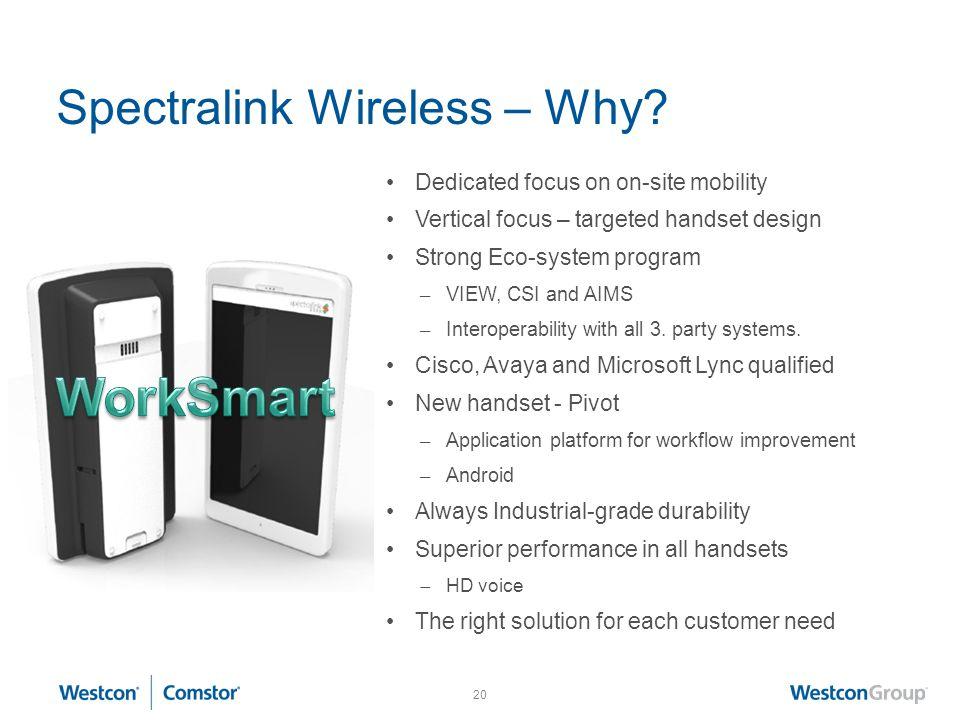 20 Spectralink Wireless – Why.