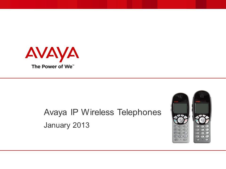 Avaya IP Wireless Telephones January 2013