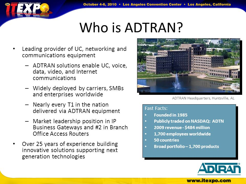 Who is ADTRAN.