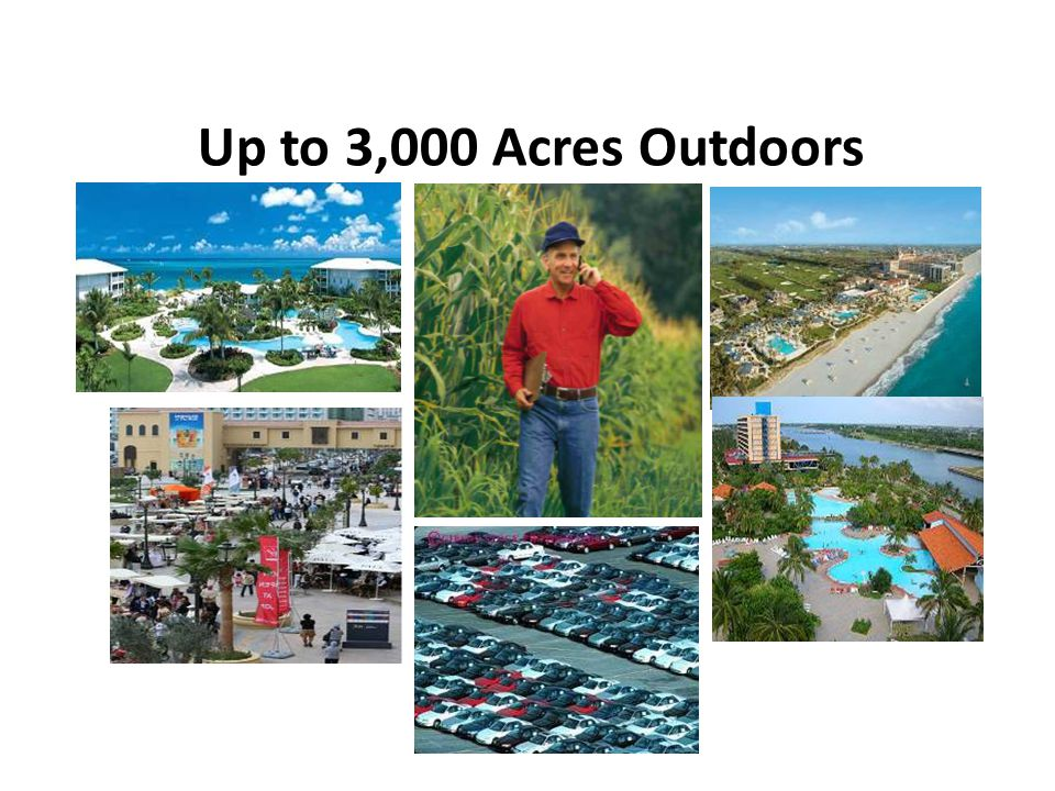Up to 3,000 Acres Outdoors Coverage and Range
