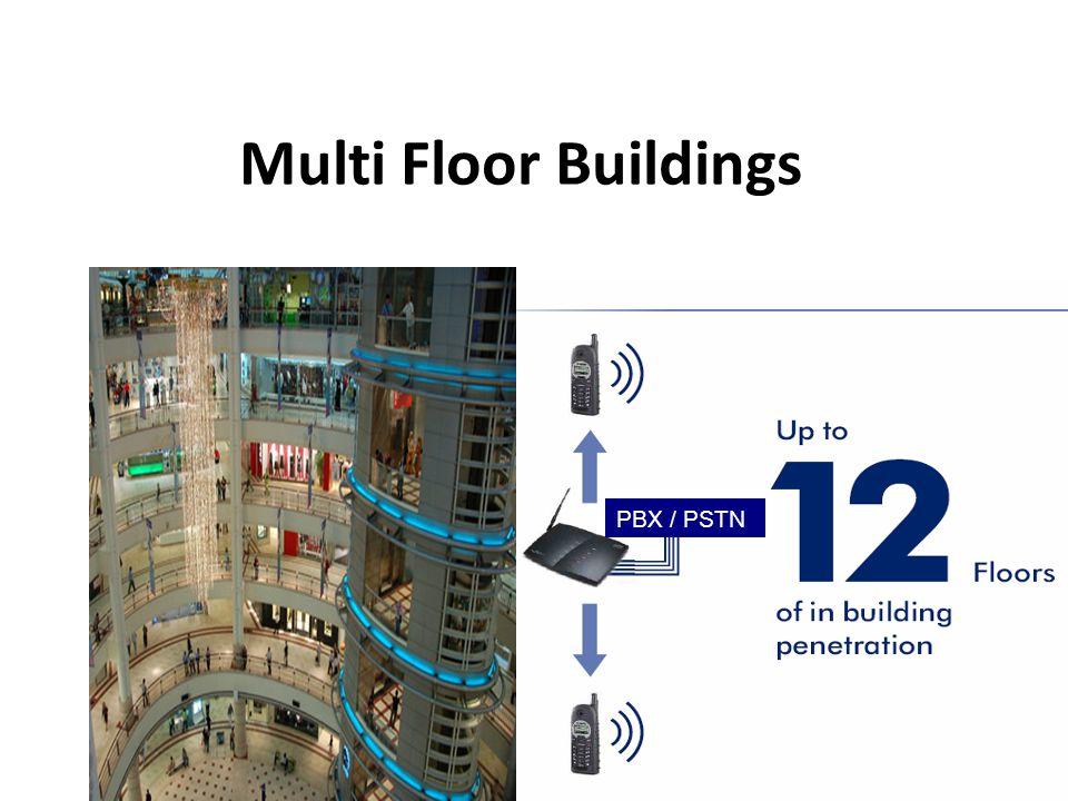 PBX / PSTN Multi Floor Buildings Coverage and Range