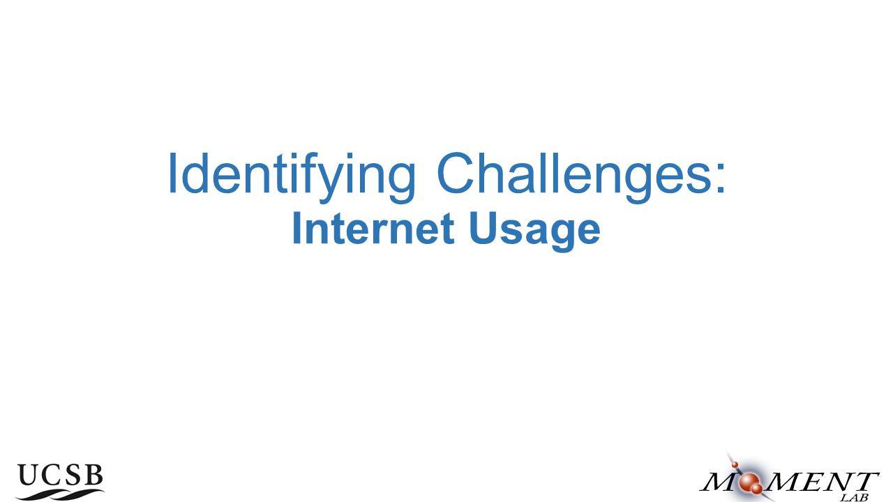 Identifying Challenges: Internet Usage