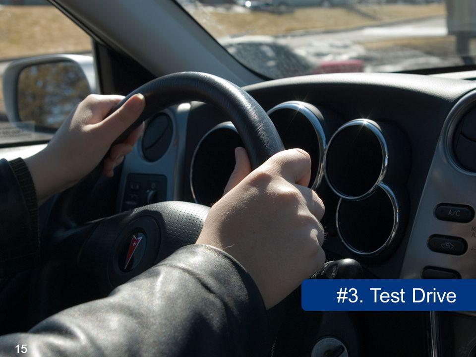 15 #3. Test Drive