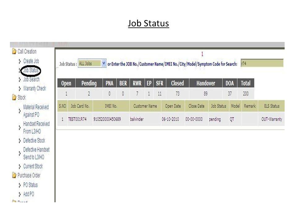 Job Status