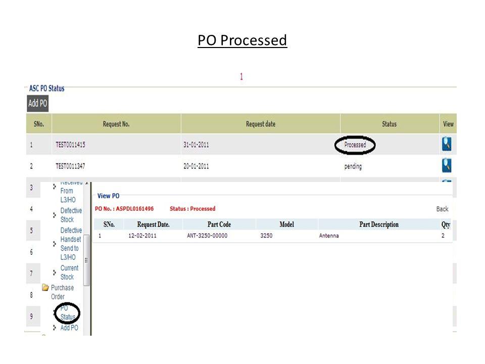 PO Processed