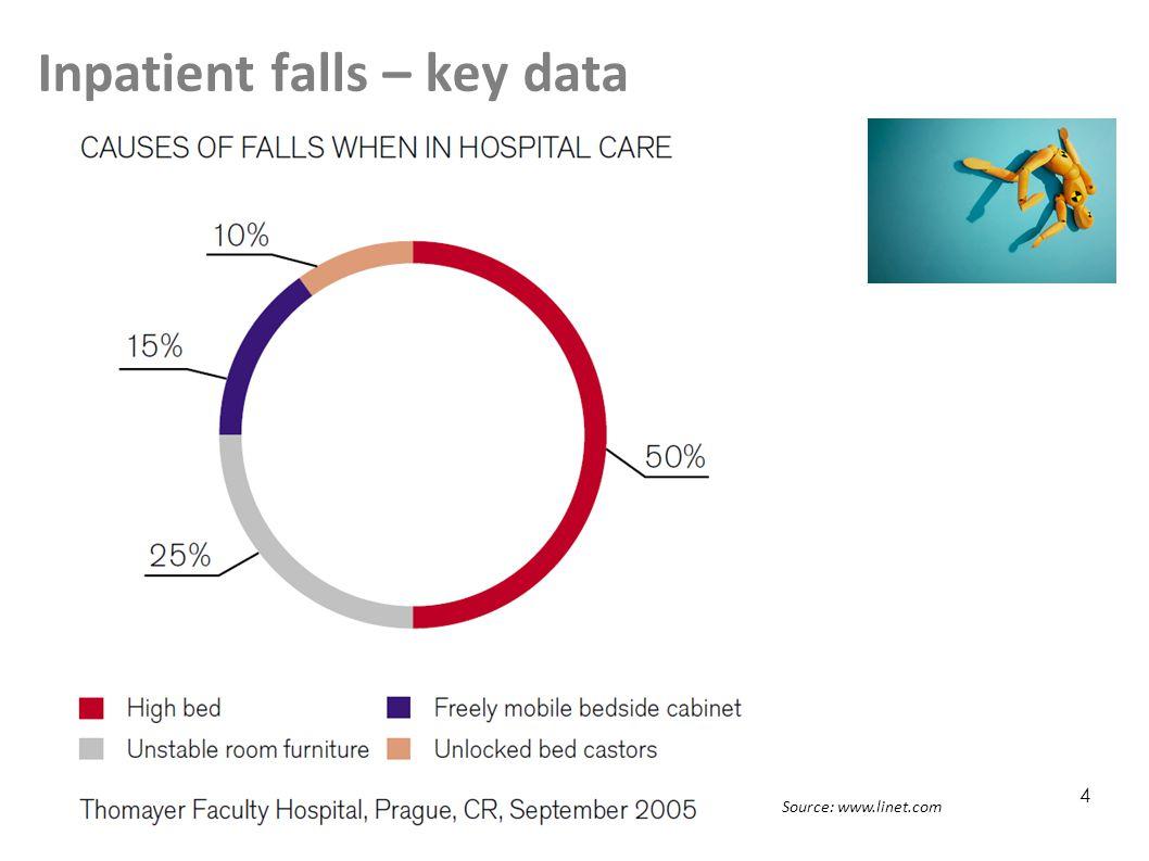 Inpatient falls – key data 4 Source: www.linet.com