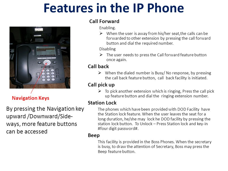 Features in the IP Phone Call Forward Enabling.
