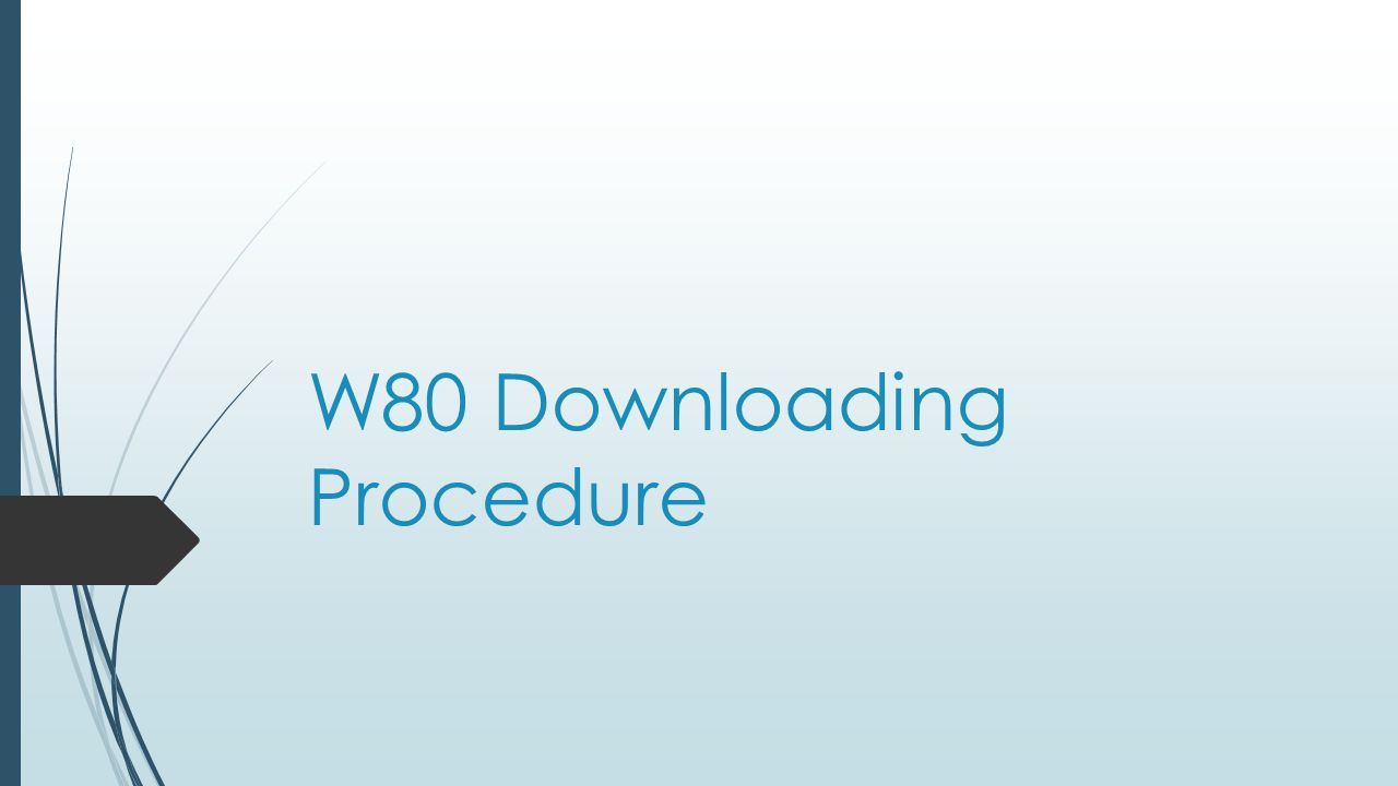 W80 Downloading Procedure