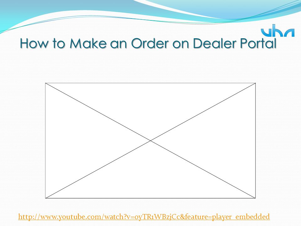 How to Make an Order on Dealer Portal http://www.youtube.com/watch?v=oyTR1WBzjCc&feature=player_embedded
