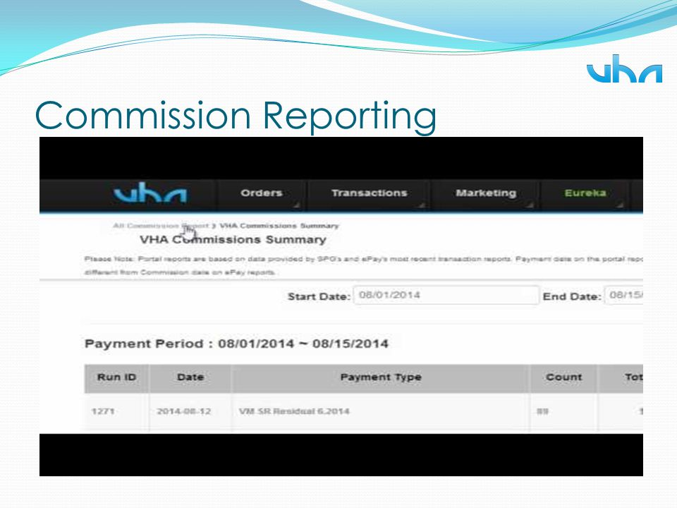 Commission Reporting