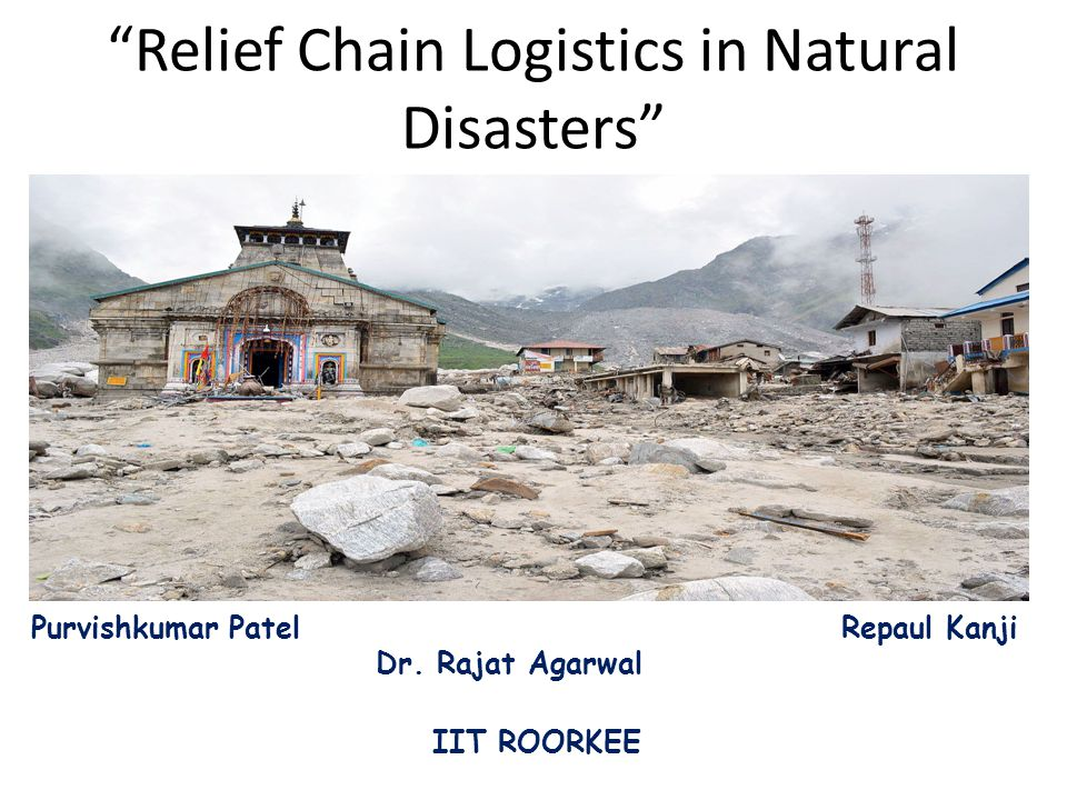 ''Logistics is the part [of any disaster relief] that can mean the difference between a successful or failed operation.'' Van Wassenhove (2006) p.