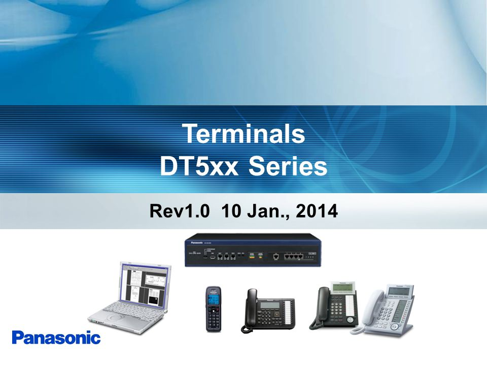 Terminals DT5xx Series Rev1.0 10 Jan., 2014