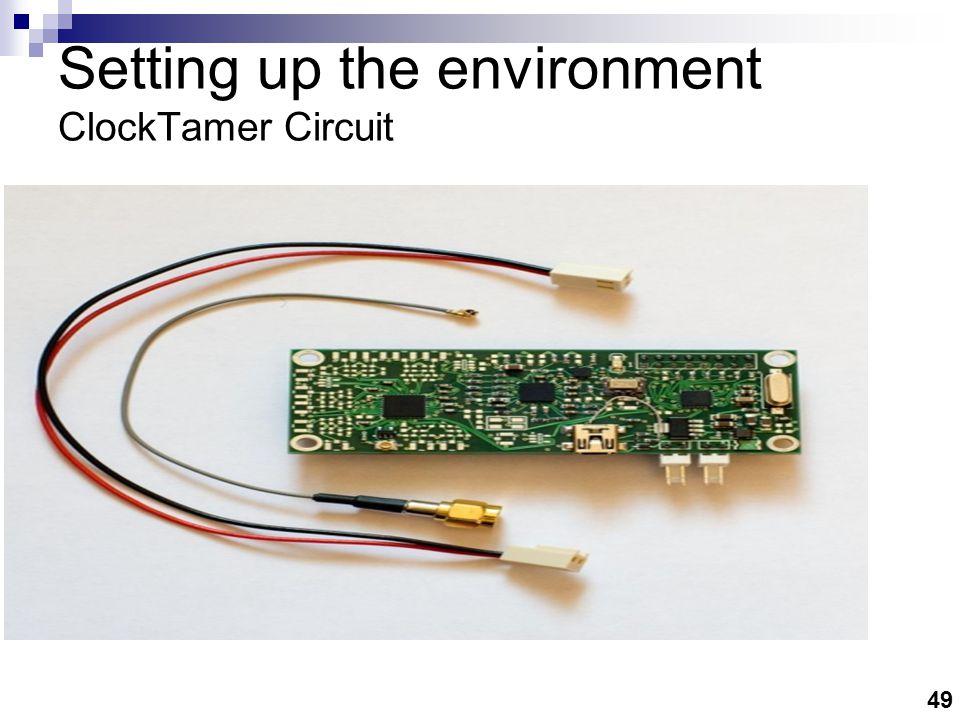49 Setting up the environment ClockTamer Circuit