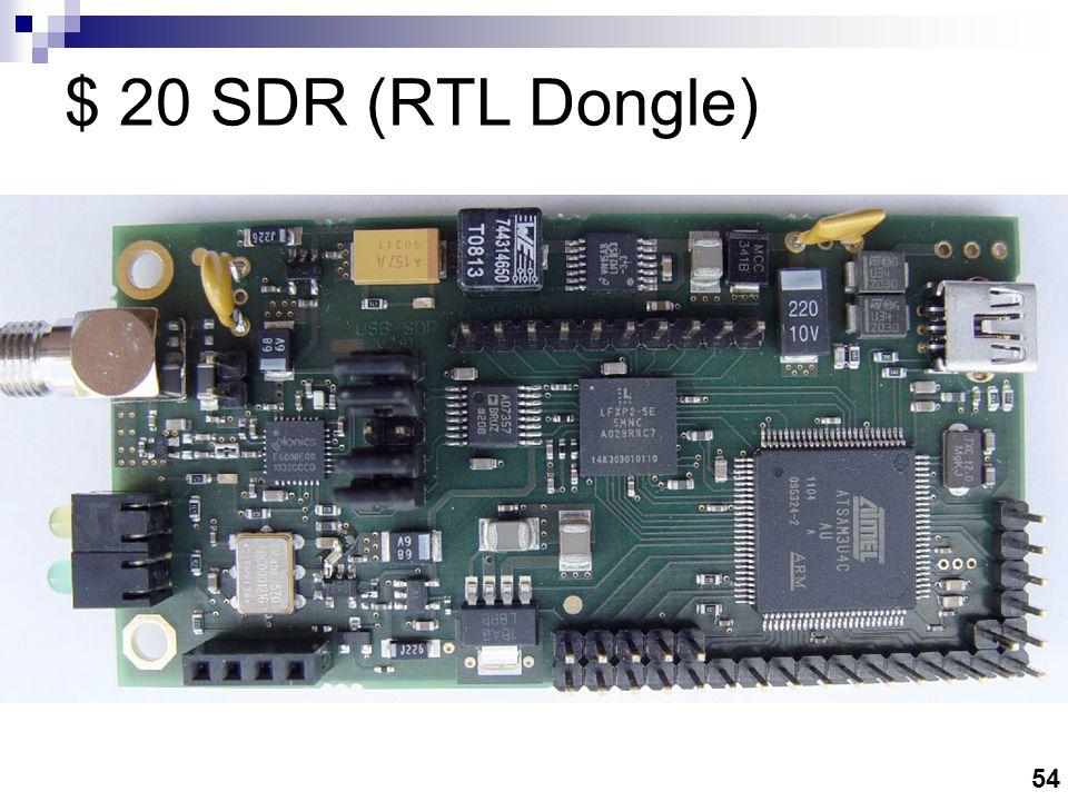 54 $ 20 SDR (RTL Dongle)