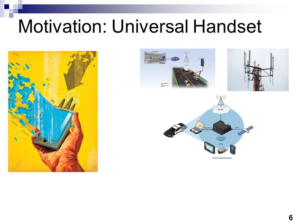 6 Motivation: Universal Handset