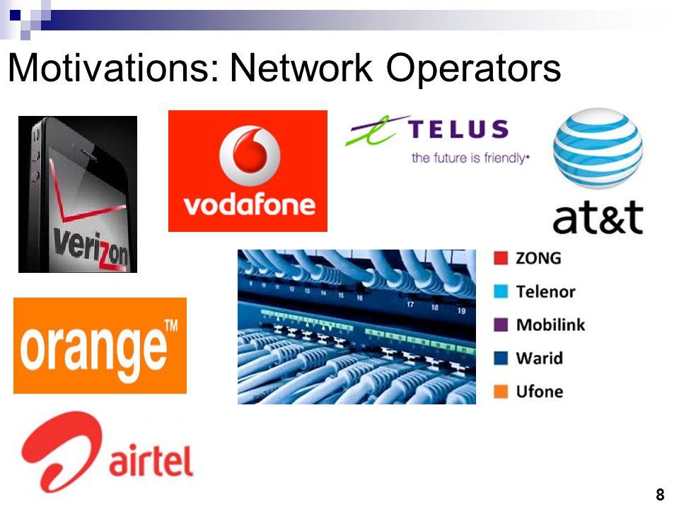 8 Motivations: Network Operators