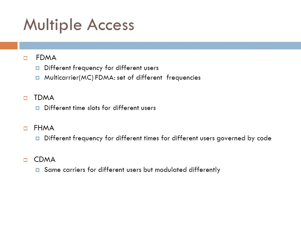9 Some medium access control mechanisms for wireless TDMA CDMA FDMA SDMA Fixed Aloha Reservations DAMA Multiple Access with Collision Avoidance Polling Pure CSMA Used in GSM Slotted Non-persistent p-persistentCSMA/CA Copes with hidden and exposed terminal RTS/CTS Used in 802.11 (optional) MACAW MACA-BIFAMA CARMA Used in 802.11 (mandatory) Used in 802.11 (optional) FHSS: Frequency-Hopping Spread Spectrum DSSS: Direct Sequence Spread Spectrum CSMA: Carrier Sense Multiple Access CA: Collision Avoidance DAMA: Demand-Assigned Multiple Access MACA-BI: MACA by invitation FAMA: Floor Acquisition Multiple Access CARMA: Collision Avoidance and Resolution Multiple Access FHSS: Frequency-Hopping Spread Spectrum DSSS: Direct Sequence Spread Spectrum CSMA: Carrier Sense Multiple Access CA: Collision Avoidance DAMA: Demand-Assigned Multiple Access MACA-BI: MACA by invitation FAMA: Floor Acquisition Multiple Access CARMA: Collision Avoidance and Resolution Multiple Access FHSS DSSS Used in GSM Fixed Used in Bluetooth Used in UMTS