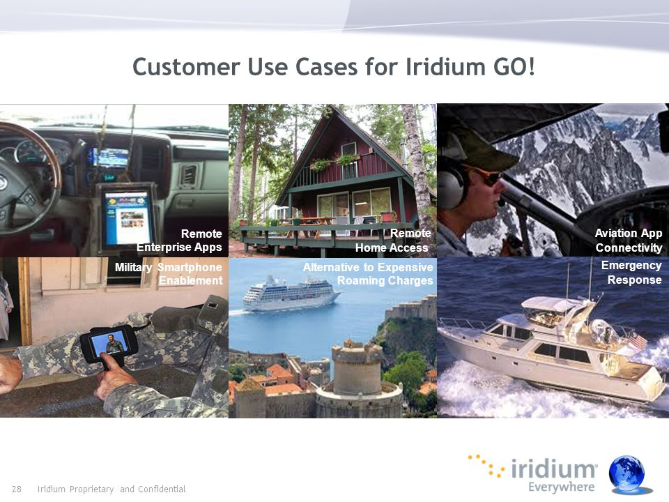 Customer Use Cases for Iridium GO.