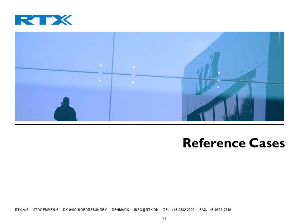 RTX A/S STROEMMEN 6 DK-9400 NOERRESUNDBY DENMARK INFO@RTX.DK TEL.