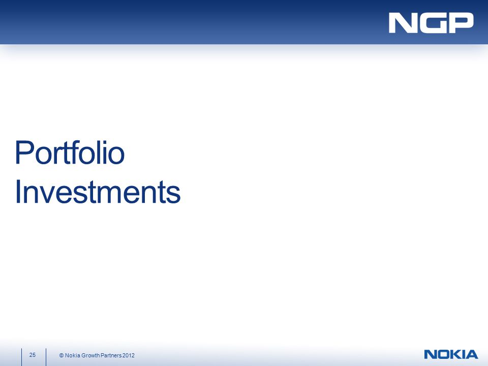 Portfolio Investments 25 © Nokia Growth Partners 2012