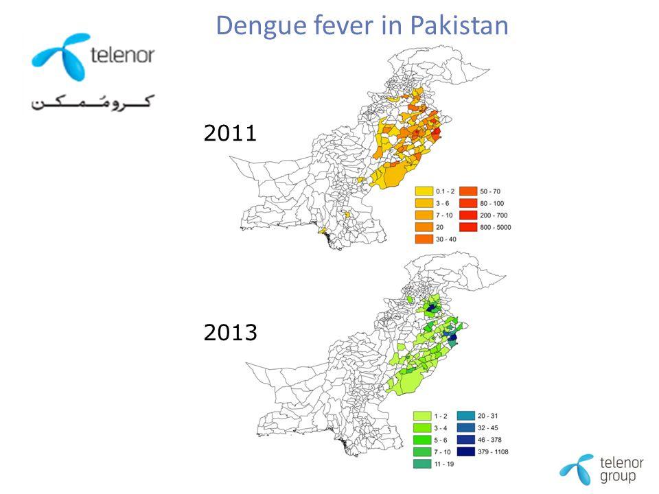 2011 2013 Dengue fever in Pakistan