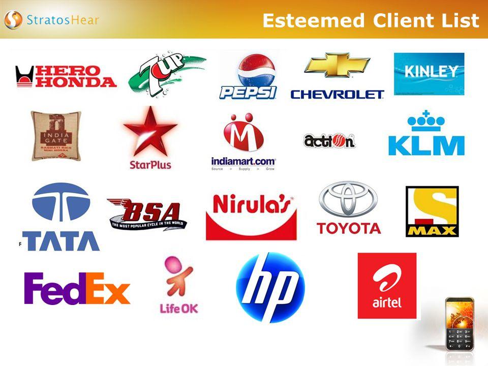 Esteemed Client List