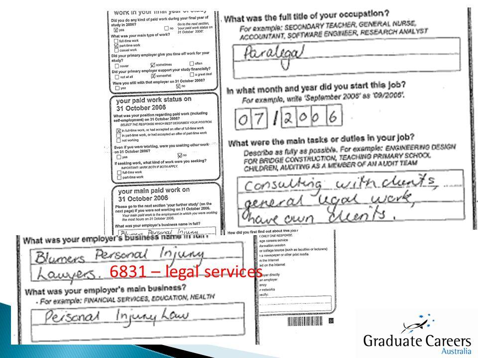 6831 – legal services