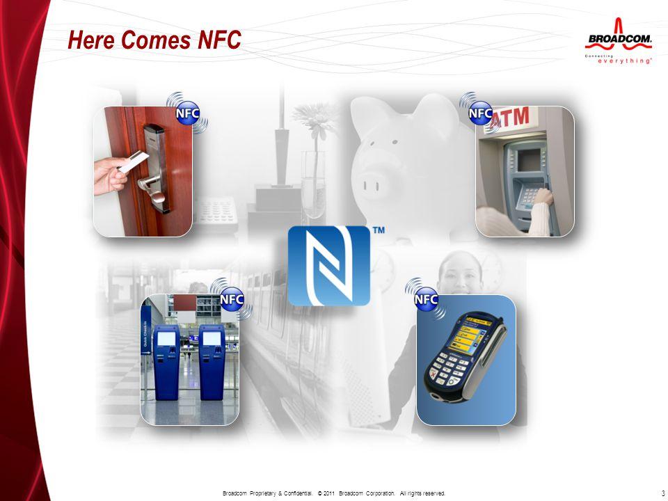 Here Comes NFC 3 Broadcom Proprietary & Confidential.