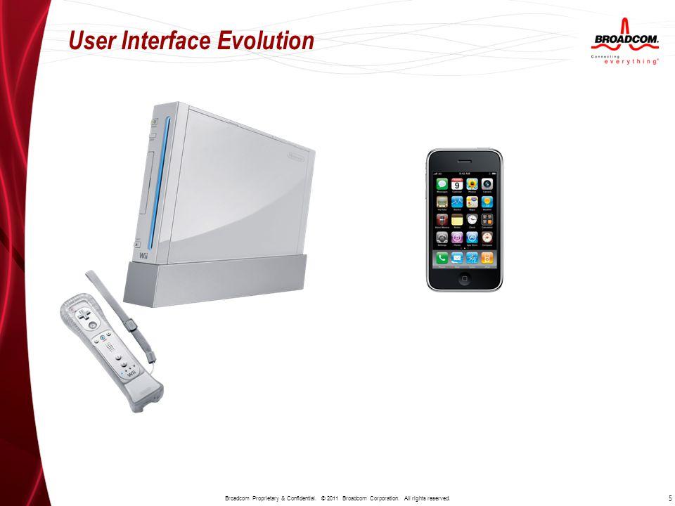 User Interface Evolution 5 Broadcom Proprietary & Confidential.