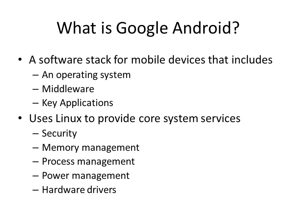What is Google Android.