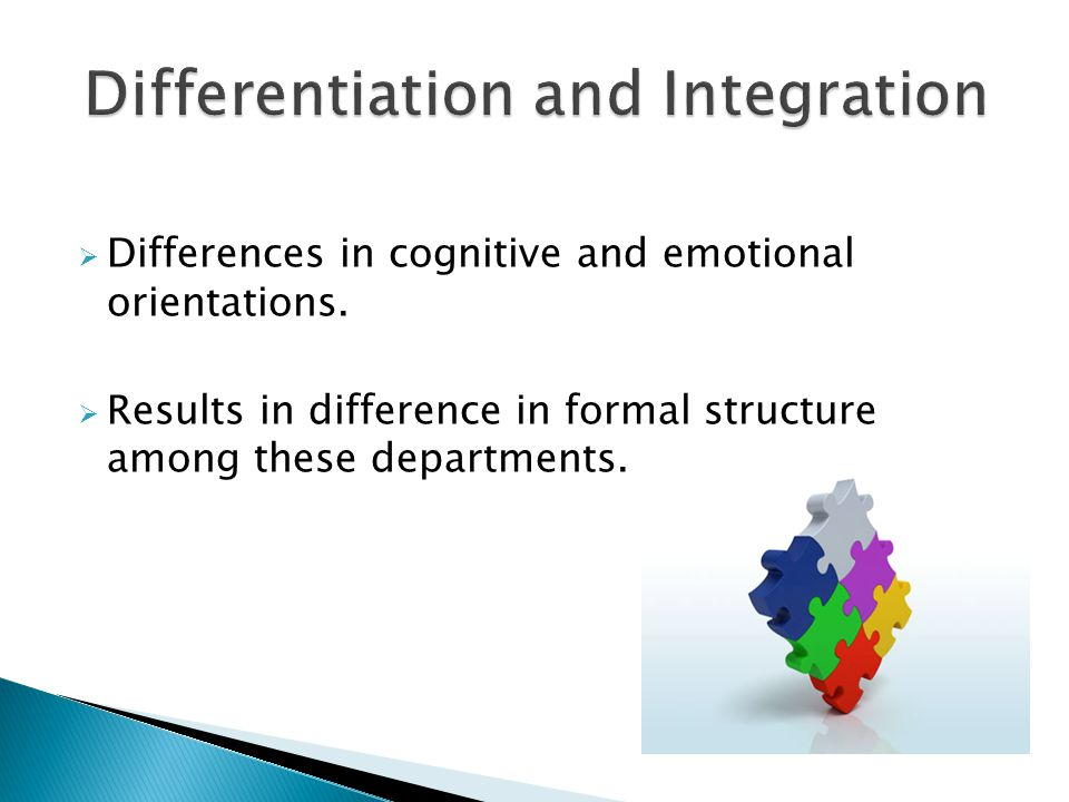  Differences in cognitive and emotional orientations.