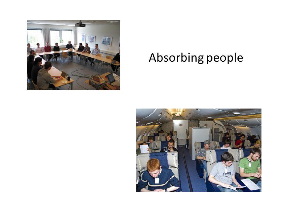 Absorbing people