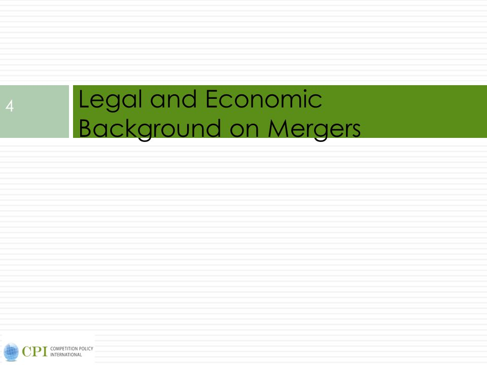 5 Definition of Mergers Merger results in transfer of ownership and control of a company (or a part of a company) Merger : A and B agree to combine to form C Acquisition : B sells to A which combines B into A Takeover : A buys control of B from shareholders against wishes of management Different types of combinations Use the term merger for convenience to refer to mergers, acquisitions, and takeovers without referring to an acquirer and target (A and B respectively in the example above).