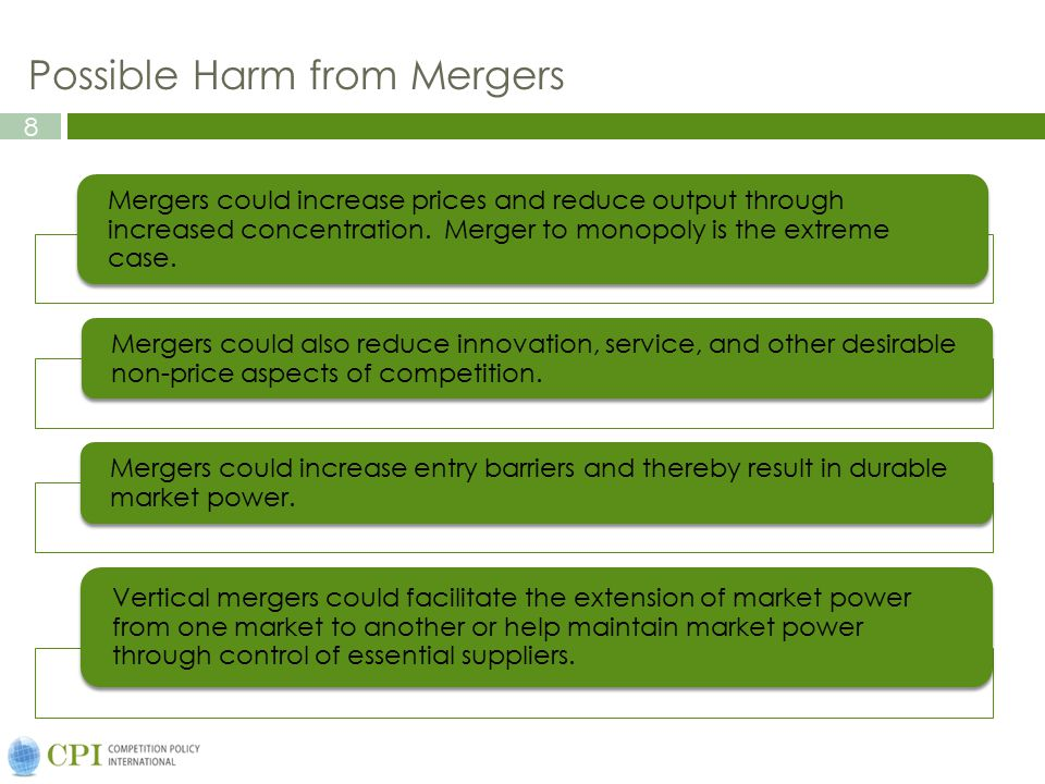 9 The Policymaker's Error Cost Conundrum If competition authorities block too many mergers, the potential for efficiency gains will be lost.
