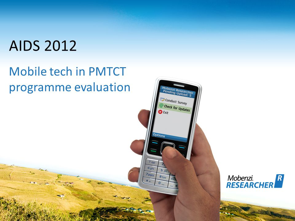 AIDS 2012 Mobile tech in PMTCT programme evaluation