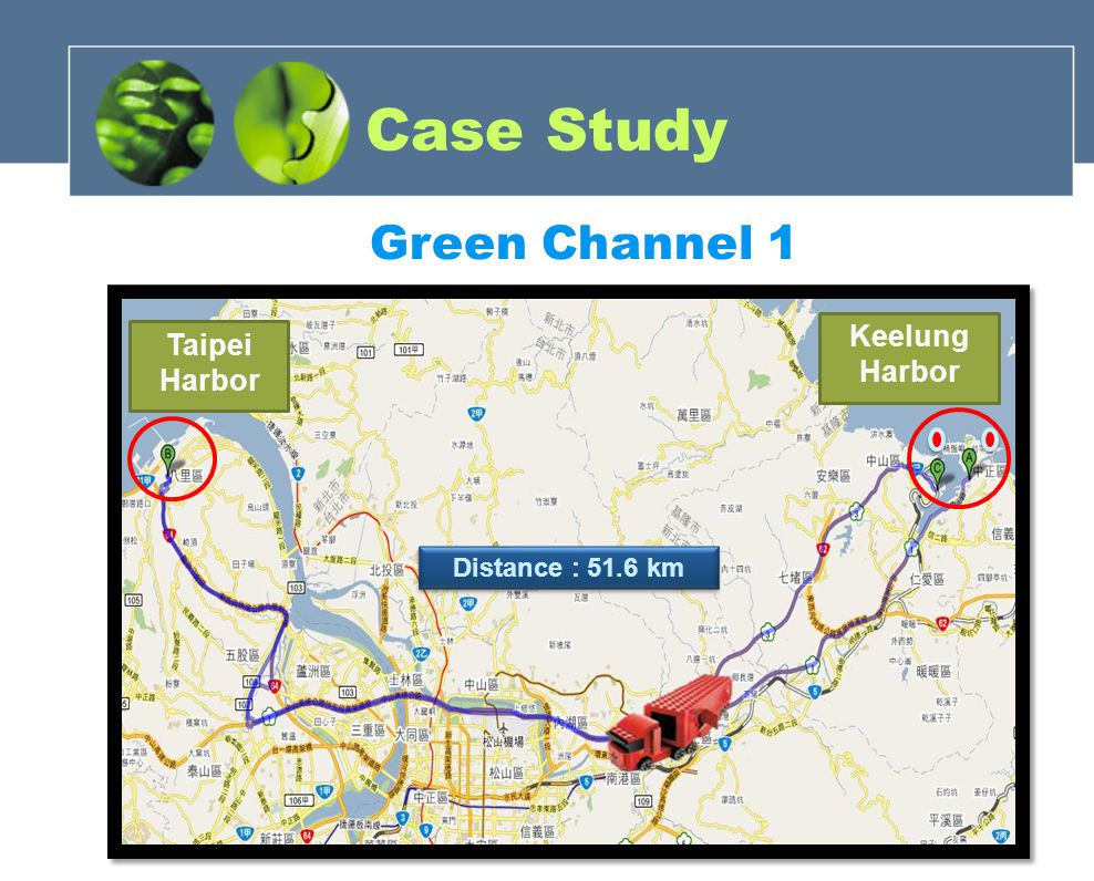Green Channel 1 Keelung Harbor Taipei Harbor Distance : 51.6 km Case Study