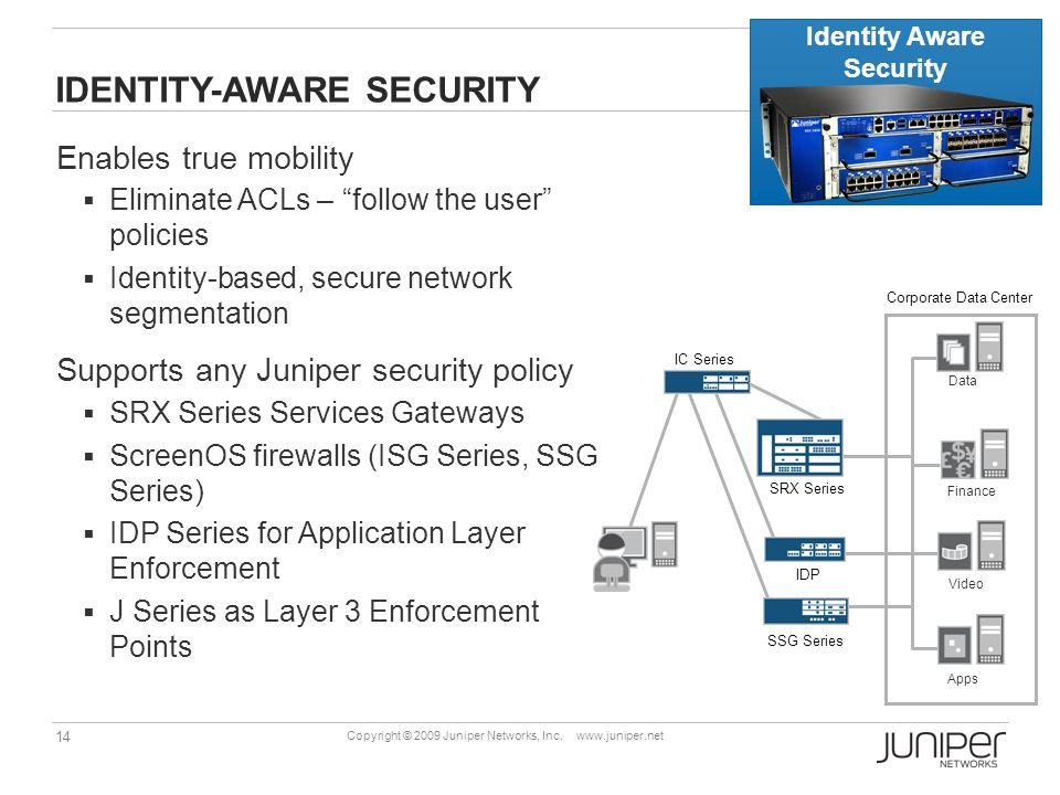 14 Copyright © 2009 Juniper Networks, Inc.