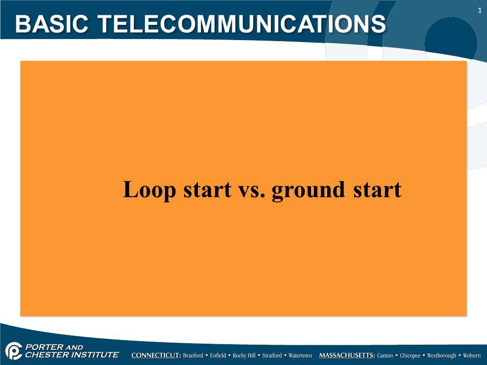 12 Analog ground start signaling is utilized by pay phones BASIC TELECOMMUNICATIONS