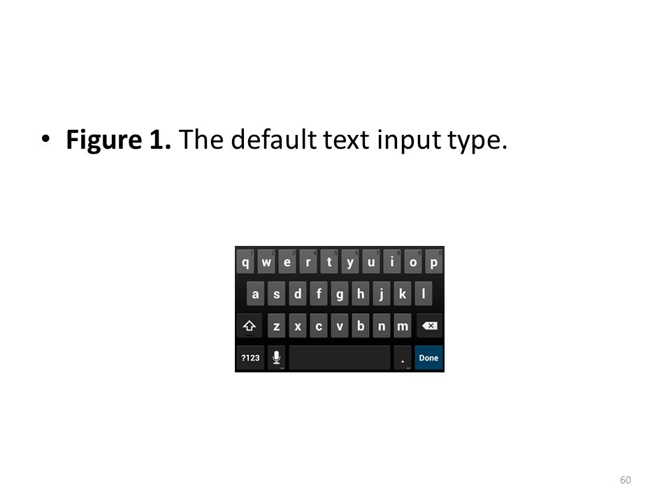 Figure 1. The default text input type. 60