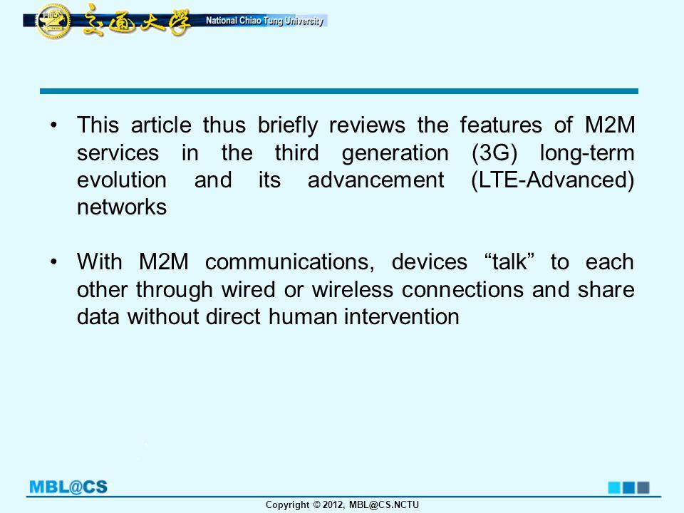 Copyright © 2012, MBL@CS.NCTU A Novel Random Access for Fixed-Location Machine-to-Machine Communications in OFDMA Based Systems Ko, K.; Kim, M.; Bae, K.; Sung, D.; Kim, J.; Ahn, J.; Communications Letters, IEEE, vol.PP, no.99, pp.1-4, 2012