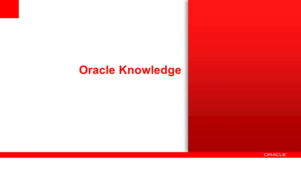 Oracle Knowledge