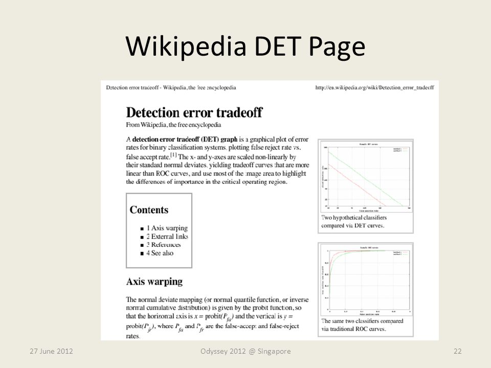 Wikipedia DET Page 27 June 2012Odyssey 2012 @ Singapore22