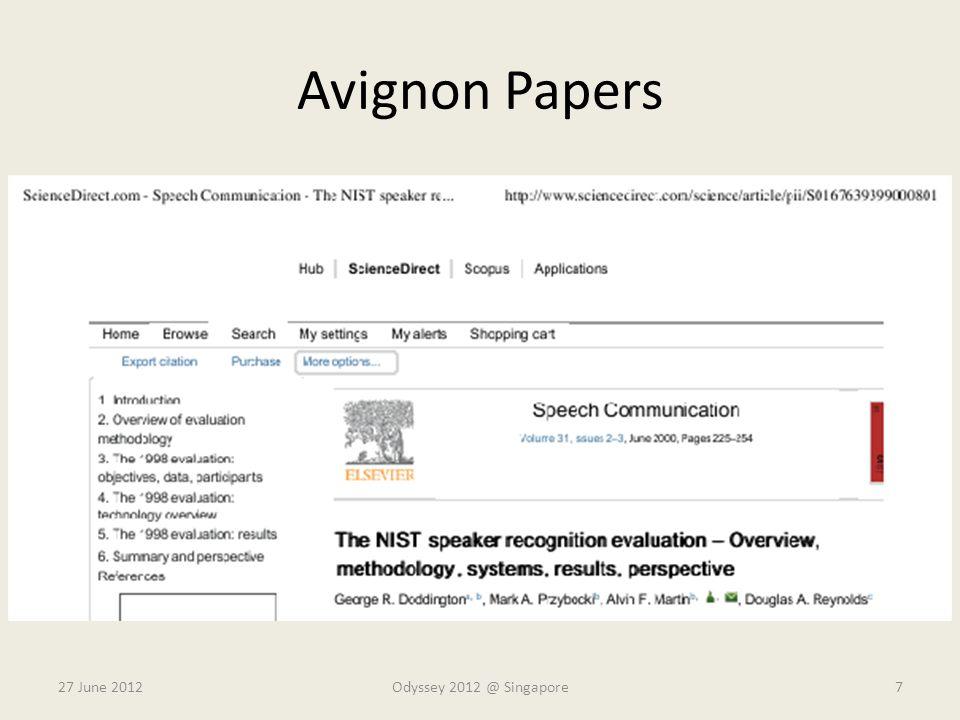 Avignon Papers 27 June 2012Odyssey 2012 @ Singapore7