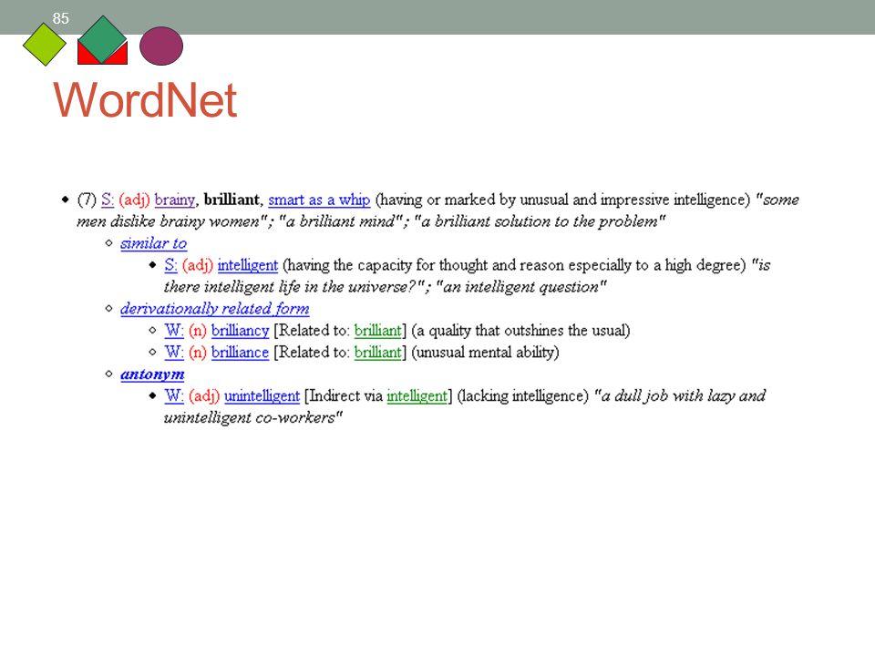 85 WordNet