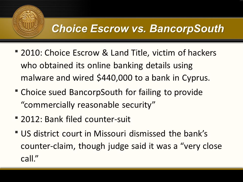 Choice Escrow vs.