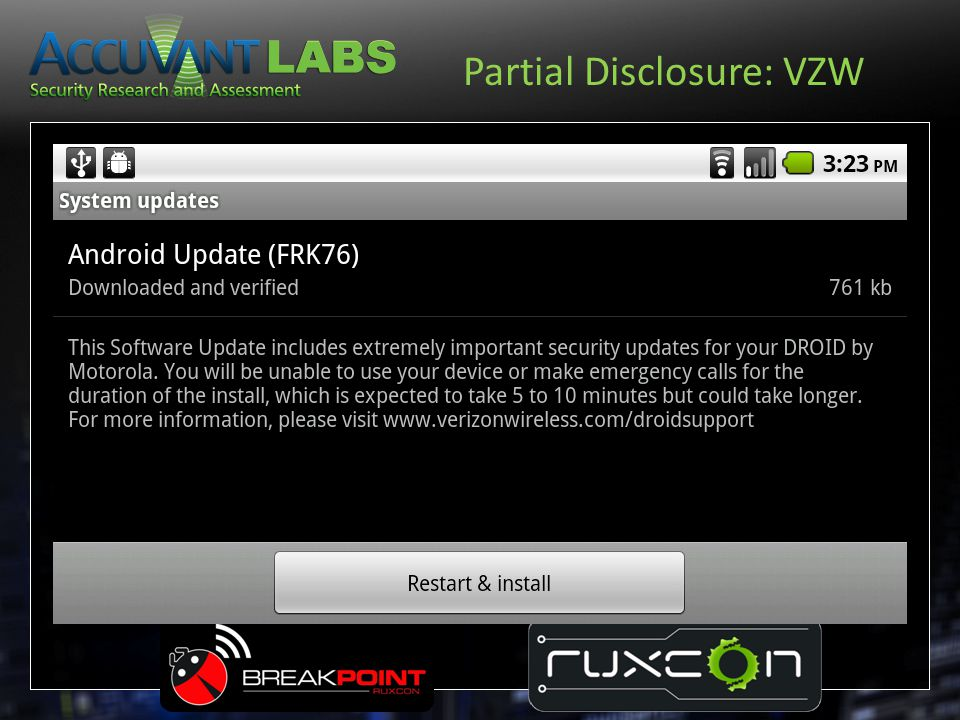 Partial Disclosure: VZW