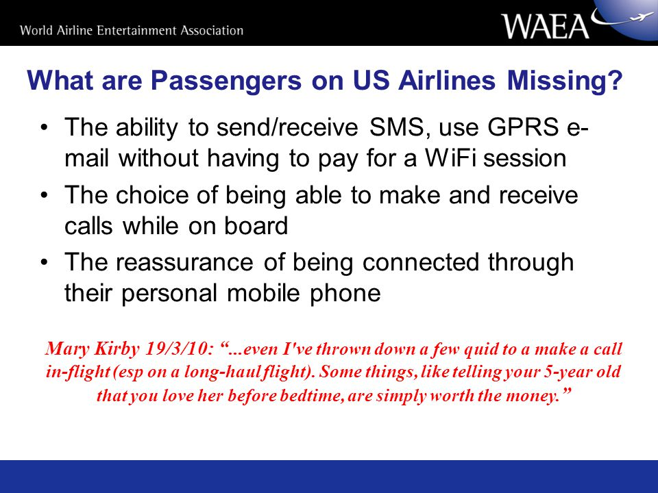 What are Passengers on US Airlines Missing.